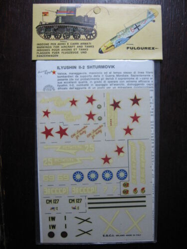 POLIKARPOV I 16 1//72  VINTAGE ESCI DECAL N°14 RUSSIE RUSSIA URSS ILYUSHIN IL 2