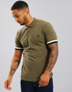 e1953c3dd Image is loading Fred-Perry-Bold-Cuff-Pique-Polo-Shirt-Iris-