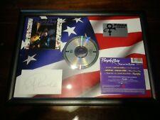 Prince Purple Rain Framed CD Album On 3-D  USA Flag With Facsimile Autograph