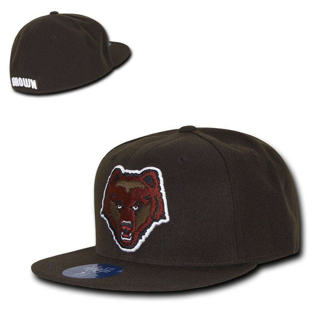 NCAA College Brown Bears University Bears College NCAA Fitted Caps Hats Brown fa5ca1