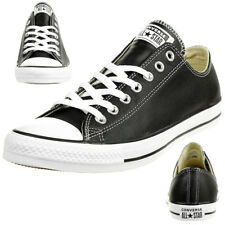 242fdcf44598 Converse C Taylor all Star Ox Chuck Leather Shoes Sneakers Black 132174C