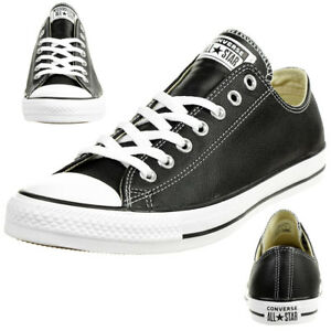 Details about Converse C Taylor all Star Ox Chuck Leather Shoes Sneakers Black 132174C