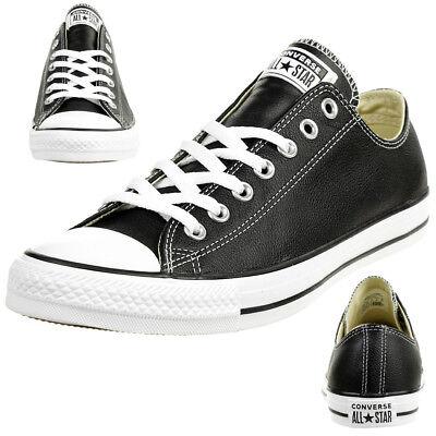 Converse All Star Chuck OX 132174 en cuir noir C Hommes