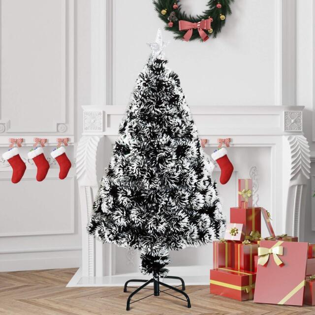 3ft White Christmas Tree.Snow White Christmas Tree Xmas Snowing 3ft 6ft 8f Fibre Optic Led Lights Flocked