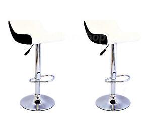caricamento dellimmagine in corso coppia sgabelli ecopelle sgabello bianco nero design bar