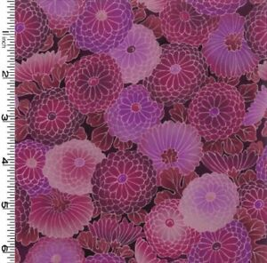 Kona-Bay-Collette-Collection-Magenta-Floral-Fabric-Tone-on-Tone-Zinnias-BTY