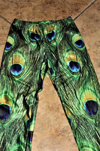 Long Small Srp Spandex Nwot 68 Stretch con Stampa in Leggings Peacock 6Z0Tw