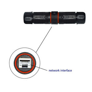 RJ45-Waterproof-IP68-Connector-Cable-Network-Black-Double-Head-Adapter-Coupler