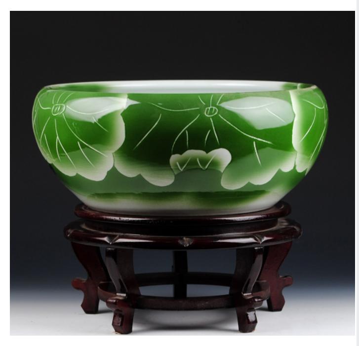 Ceramic Lotus Narcissus Big Bowl-Pot Home Decoration