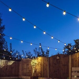 Details About 8 120m Connectable Outdoor Led Festoon Lights Party Globe Bulb Wedding