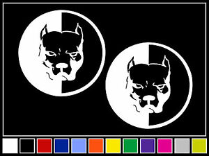 Details about (2) PIT BULL Decals*14 COLORS* Stickers Dog Staffordshire  Terrier Bully Pitbull