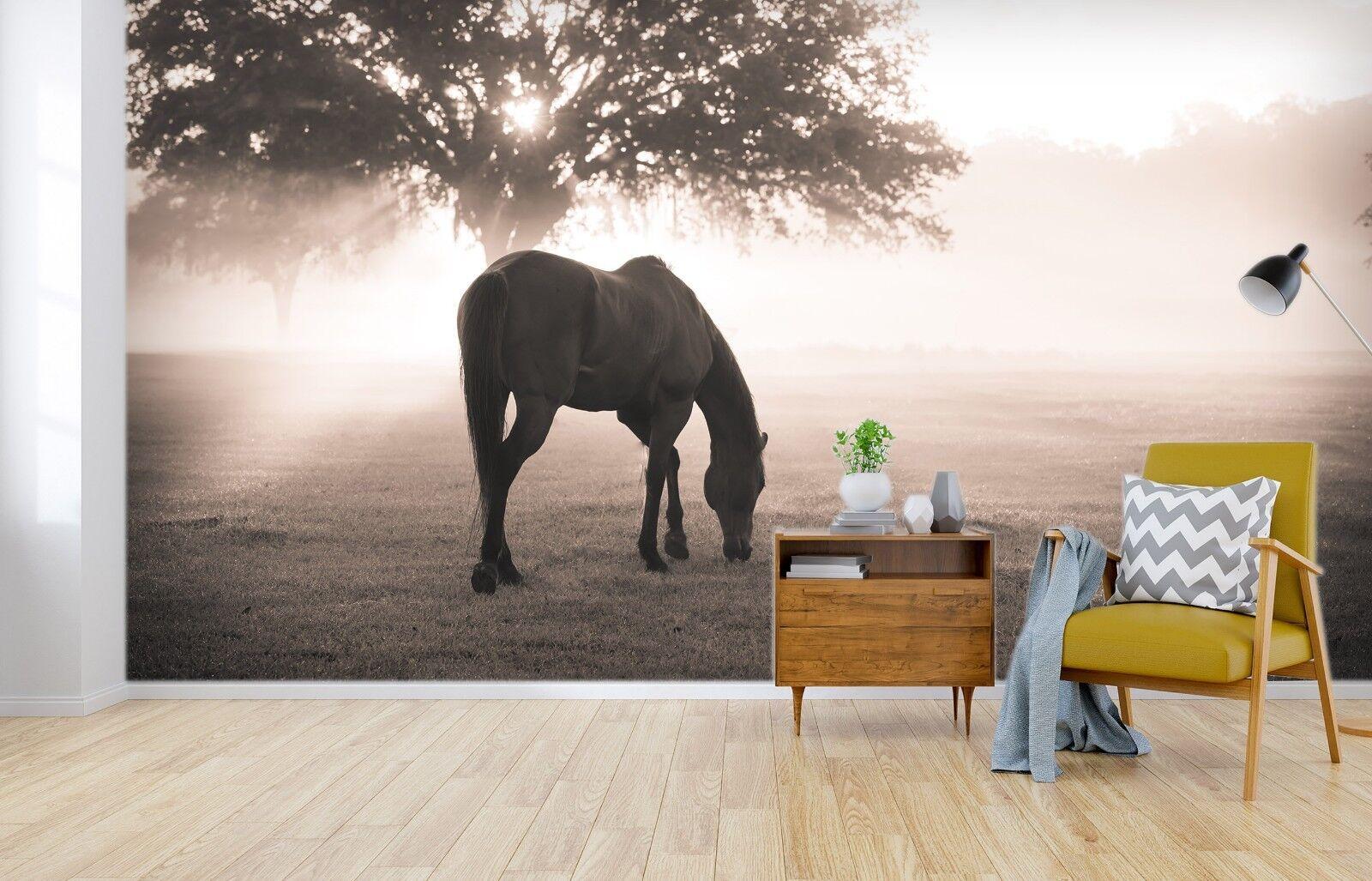 3D Tree Horse 7011 Wall Paper Murals Wall Print Wall Wallpaper Mural AU Summer