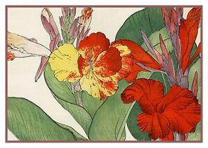 Asiatique-Fleur-Tanigami-Cana-Lily-Point-de-Croix-Tableau-Motif