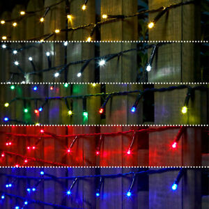 Details About 5 10 20m Battery Outdoor Led Fairy String Lights With Timer Garden