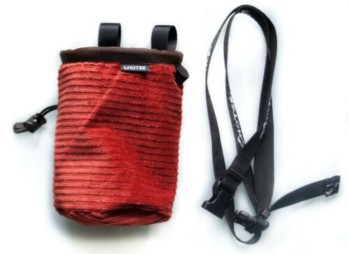 Bouldering Bag Lhotse Chalk Bag Corduroy brown Climbing Bag Belt