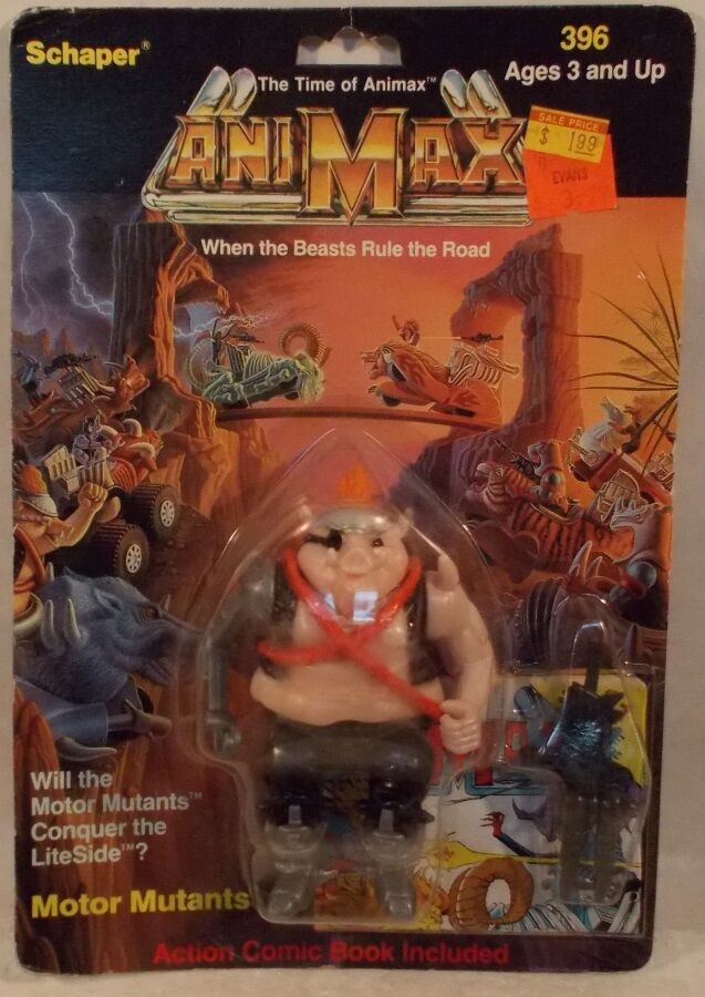 Animax Beasts Rule Te Road - Gross Out Motor Mutant  With Comic And Gun (MOC)