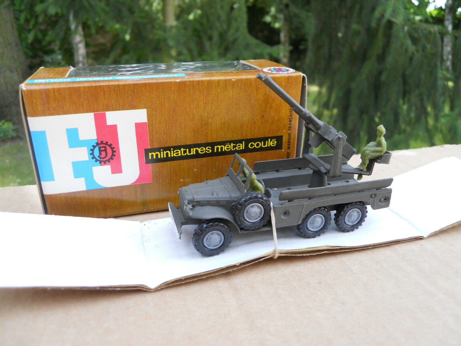 Vehicle Military Military Military France Jouets Dodge 6X6 Barrels Antiaerien Mint in Box 0a5