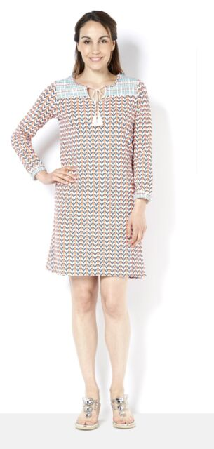 C. Wonder Long Sleeve Tunic Dress with Embroidery Detail Size 2X XXL SK076 AA 12