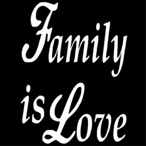 2pcs Family is Love Sticker Car Window Laptop Auto Wall JDM Vinyl Skate Decal