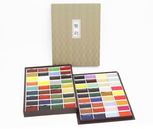 Kissho Gansai Japanese Watercolor Pigment for painting 72 Colors GIFT Set NEW