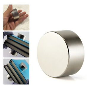 Super-Strong-N35-Round-Disc-Neodymium-Big-Fridge-Magnets-Rare-Earth-40mm-x-20mm