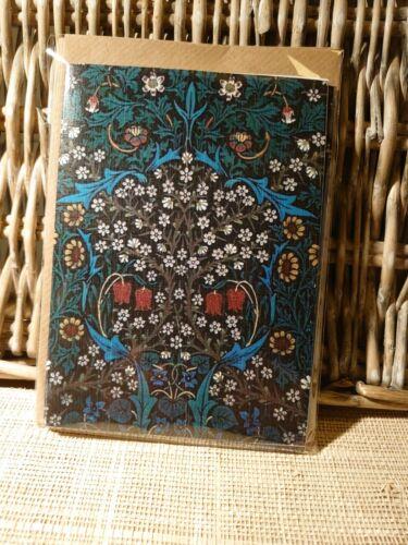 pliée A6 en blanc William Morris Blackthorn cartes Notelets Envs 20 Pack Carte
