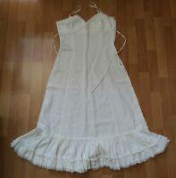 Vestido ibicenco blanco largo Zara talla M
