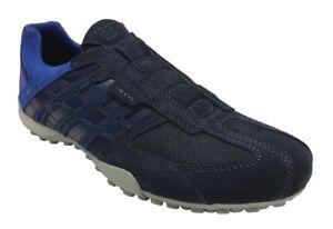 Details about Geox Respira Uomo Snake U4207l C4002 Men's Sneakers Slip on Shoe Navy Blue