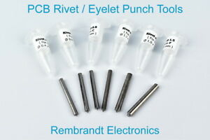 PCB Rivet / Eyelet Punch Tools for Rivets / Eyelets A, B, C, D, E and F (US)