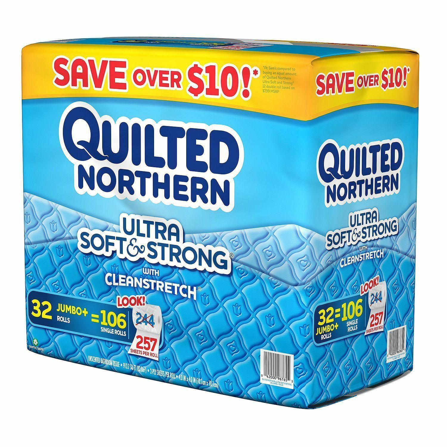 Quilted Northern Toilet Paper (32 Rolls, 257 Sheets Roll, 2-ply) NEW. Ship Free