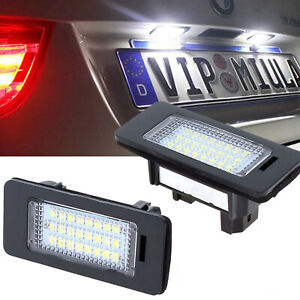Pair-24-LED-License-Plate-Number-Lights-For-BMW-E90-E92-E70-E39-F30-E60-E61-E93