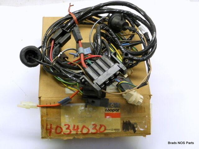 NOS Mopar 1977 Dodge Van Headlamp Wiring Harness 4034030 for sale online |  eBay