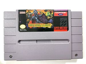 Super-Ghouls-N-Ghosts-SNES-Super-Nintendo-Game-Tested-Working-amp-Authentic