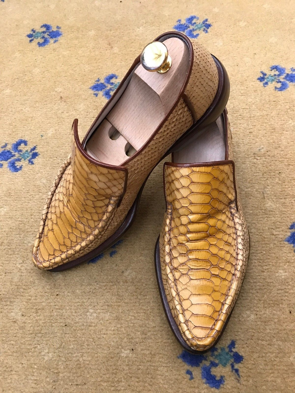 Oliver Sweeney Men's Shoes Yellow Snakeskin effect Ravioli Loafers US 8 41