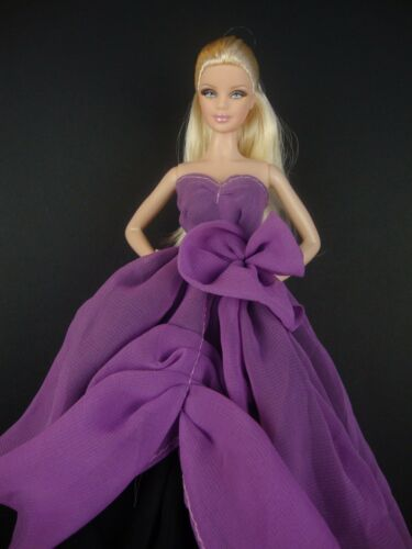 Stunning Two Tone Gown in Purple and Black Made to Fit Barbie Doll