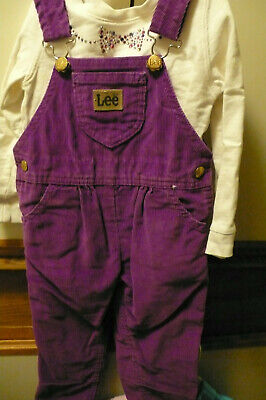 Used Painstaking Vintage Lee Corduroy Overalls W Coordinated Long Sleeve Carter's Top Big Clearance Sale