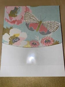 Hallmark-Writing-Papers-And-Envelopes-Gold-Butterfly-Stationery-Set-New