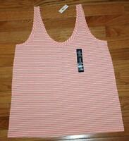 Womens Gap Gapbody Tank Top Pink White Striped Lounge Modal Blend Q6