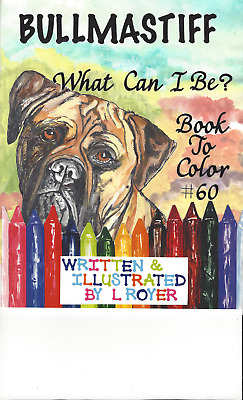 PUG DOG ART COLORING BOOK BY ARTIST L ROYER  AUTOGRAPHED #53 BRAND NEW RELEASE