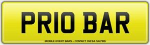 MOBILE-BAR-ALCOHOL-DRINKS-CATERING-VAN-REG-NUMBER-PLATE-PR10-BAR-ALL-FEES-PAID