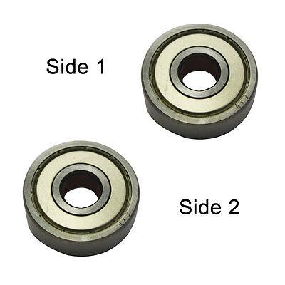 2pcs//pk 2 x Shield, Superior Electric SE 627ZZ-D Replacement Ball Bearing
