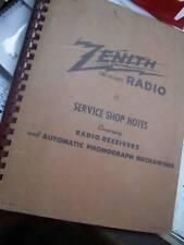 HUGE  ZENITH RADIO & Phonograph SERVICE SHOP MANUAL CD