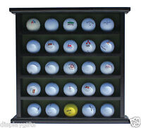 Golf Ball Display Case Cabinet, No Door, Holds 25 Balls, Gb25-black