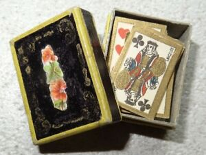 Superbe-jeu-de-cartes-miniature-ancien-Napoleon-III-poupee-parisienne-en-boite