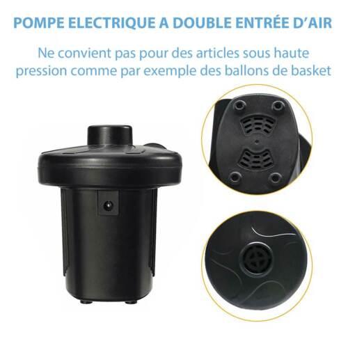 Gonfleur Electrique Pompe Air Matelas Pneumatique Bateau Camping Bouée Piscine