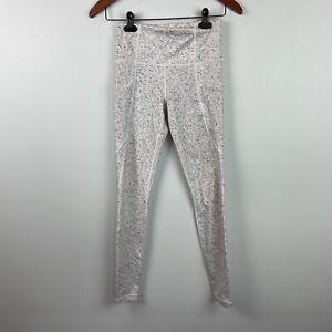 "Athleta Womens Size XS x 26.5"" Leggings White Gray Speckled Athletic Yoga Pants"