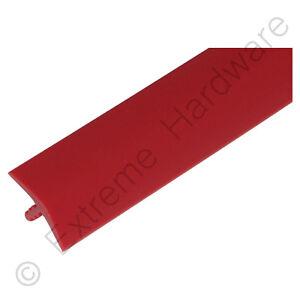 """Efficace Échantillon 3/4"""" 18 Mm Rouge T-molding Plastique Bord Bordure Pour Bornes D'arcade Cabinet-afficher Le Titre D'origine ImperméAble à L'Eau, RéSistant Aux Chocs Et AntimagnéTique"""