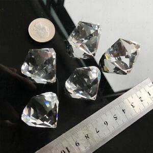 5Pc SUNCATCHER Chandelier Diamond Glass Cone Crystal Lamp Prism Hanging Pendant