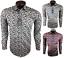 Herren-Hemd-mit-Muster-Drei-Farben-Blumen-Freizeitshirt-Party-97-Baumwolle-M-3XL Indexbild 1