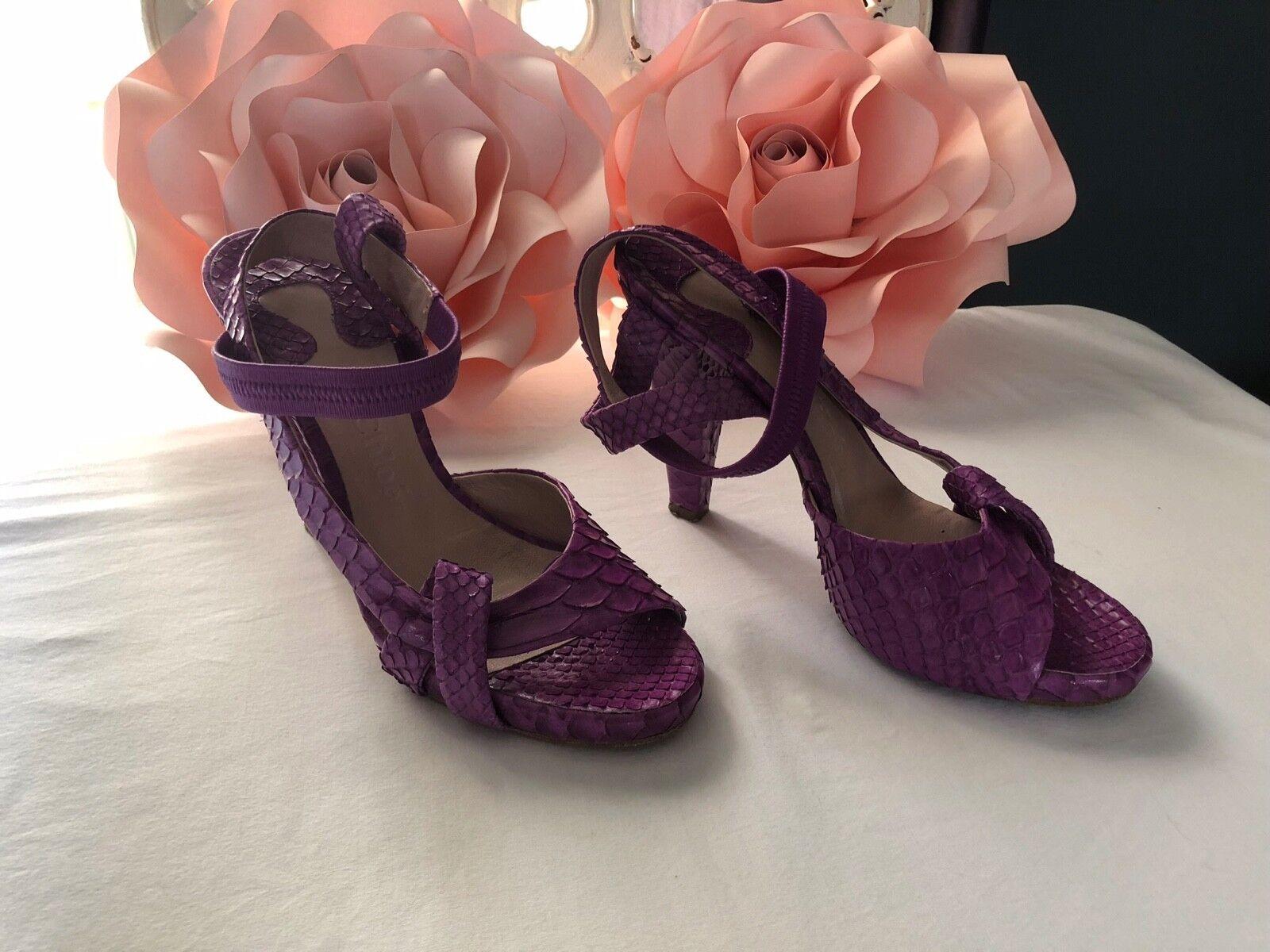 lila Chloe snake skin heels Größe 37